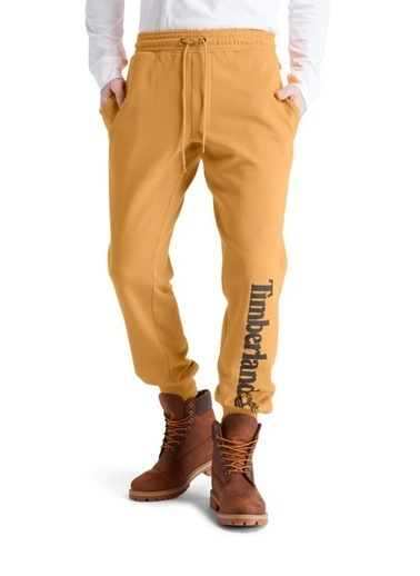 Timberland  Yc Core Tree Logo Sweatpant (Brushback) Erkek Pantolon Sarı Renkli